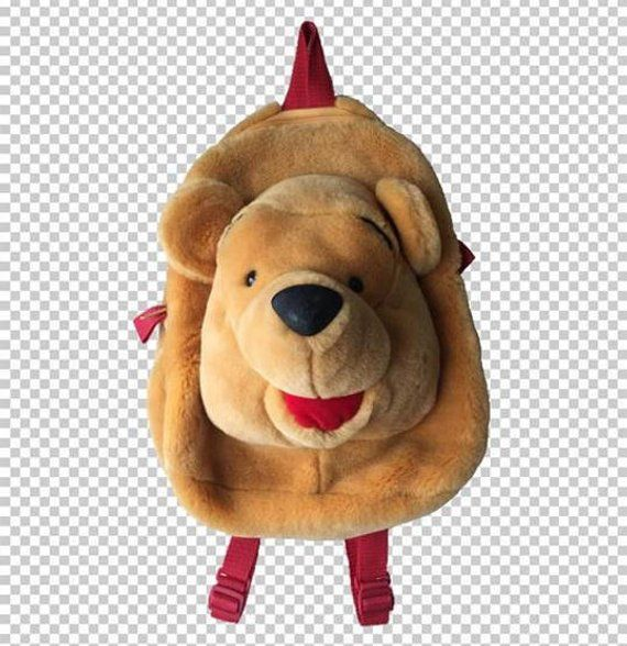 ad441d80765 90s Winnie the Pooh Plush Backpack    Vintage Furry Disney Backpack    Pooh  Bear