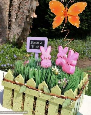 Peeps garden centerpiece  5 Marshmallow Peeps crafts  #easter #peeps #crafts @allParenting