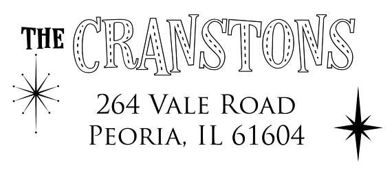 Our custom-designed Cranston Family Address Labels are perfect for: formal invitations, personal missives, Weve Moved! announcements, and more!  It is not perfect for: ransom letters. Because it has your name and address on it.   Details:  ◦ 1 x 2 5/8. ◦ 30 labels per sheet.