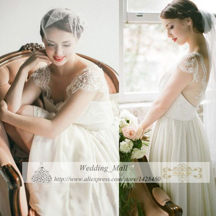 Sexy Backless Simple Chiffon Wedding Dress Short  Lace Sleeves Vintage Plus Size Ruffle Bride Dress Vestido De Noiva Vermelho