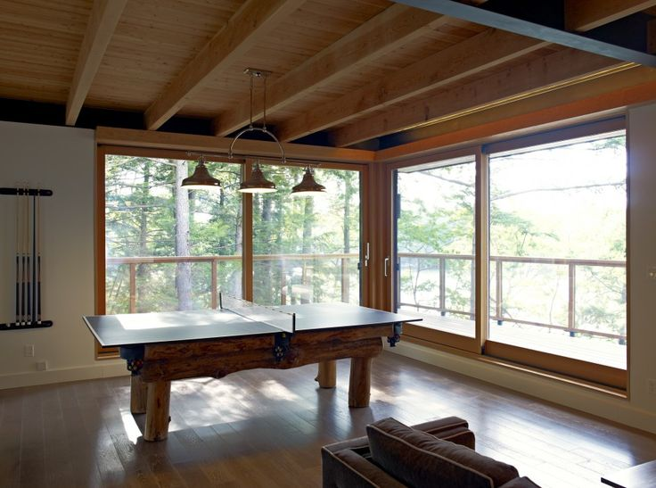 Altius Architecture Inc : Lake Joseph Cottage - games room. www.altius.net