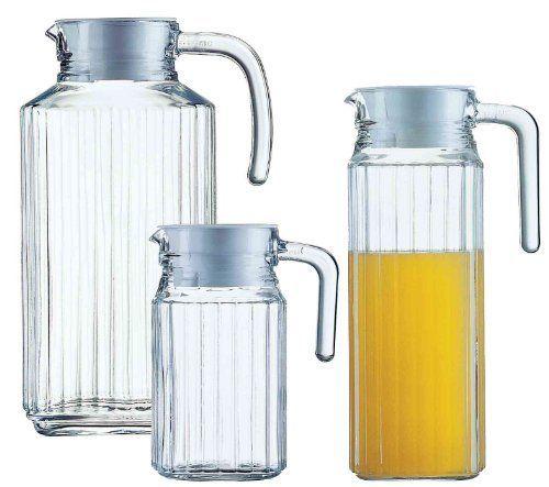 """ESMEYER Pichet en verre «Quadro» avec couvercle 0,5 L: Esmeyer - 410-086 Esmeyer Pichet en verre """"Quadro"""", avec couvercle, 0,5 Lhauteur:…"""