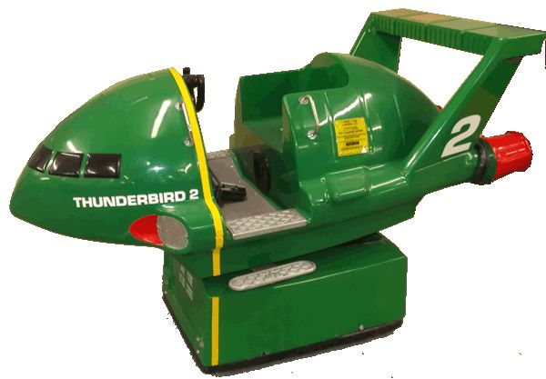 Thunderbird 2 Coin Operated Ride On Toy Usually Outside A Supermarket Or At The Beach Kiddie Rides Space Toys Kids Ride On