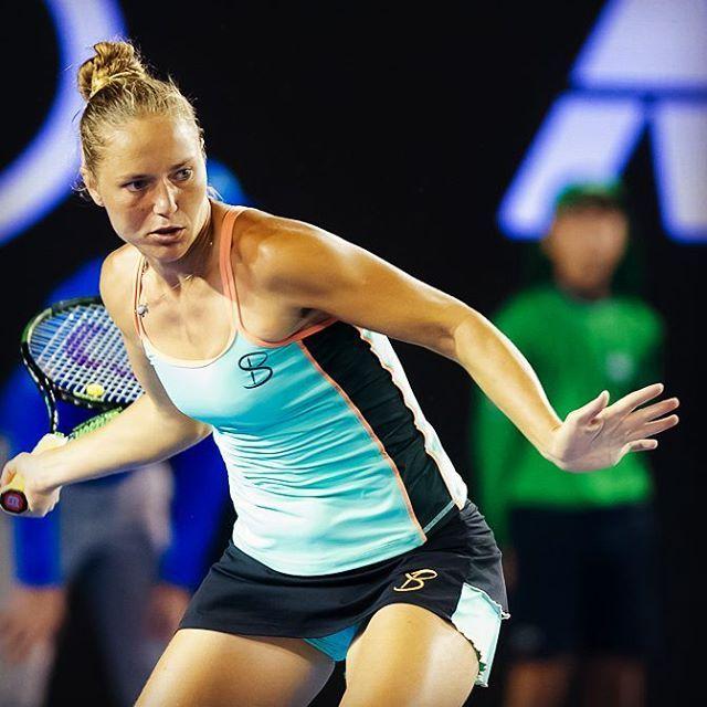 Why buns are not more popular in women's tennis? - Kateryna Bondarenko - #bun #hairstyle #ausopen2016 #sofibella #tennis
