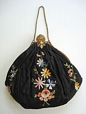 Antique Embroidered Purse. I love it!