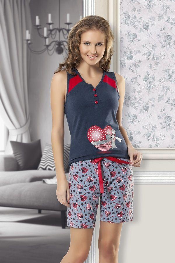 Maranda İç Giyim Yazlık Şortlu Pijama Takımı
