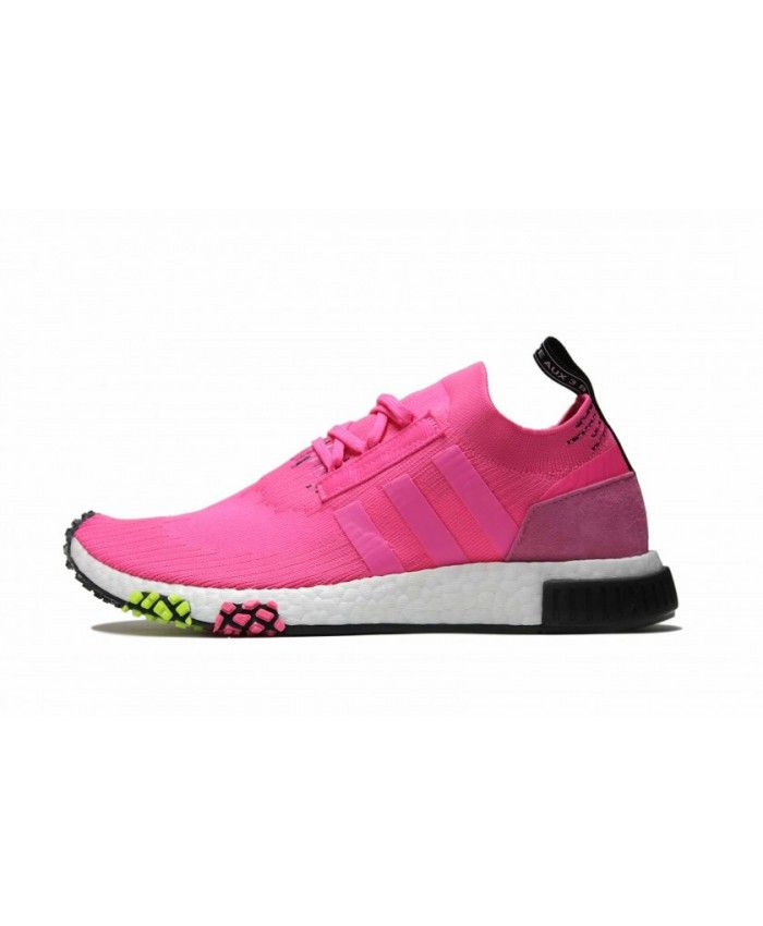 06a4136246955 Cheap Adidas NMD Racer PK Solar Pink Black White Trainers