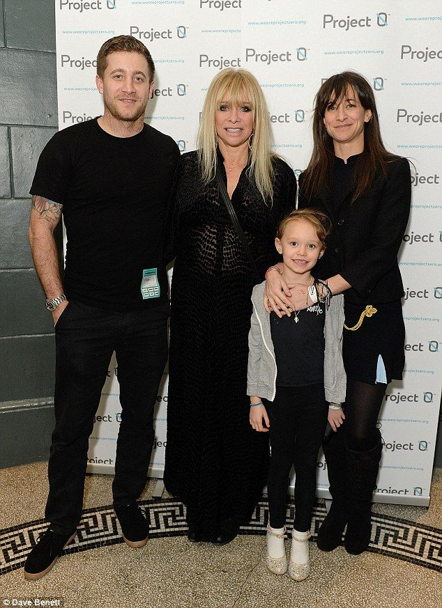 Unconventional family: Jo says she can't get her head around the face Tyrone Wood, Jo Wood...