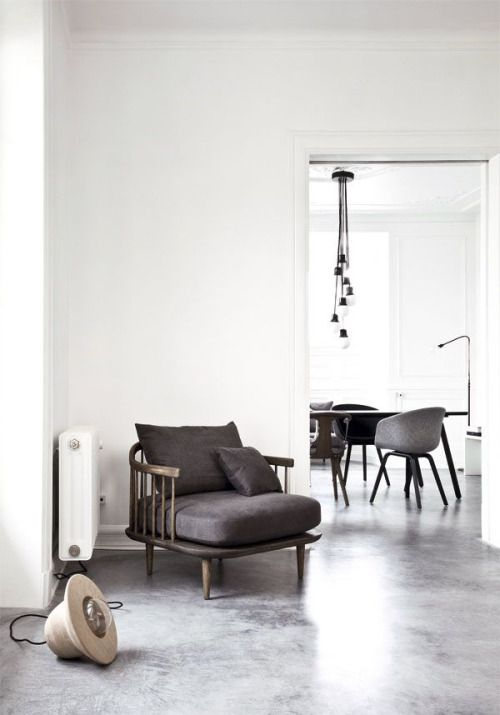 Concrete And White #livingroom #home #decor. Minimalist ...