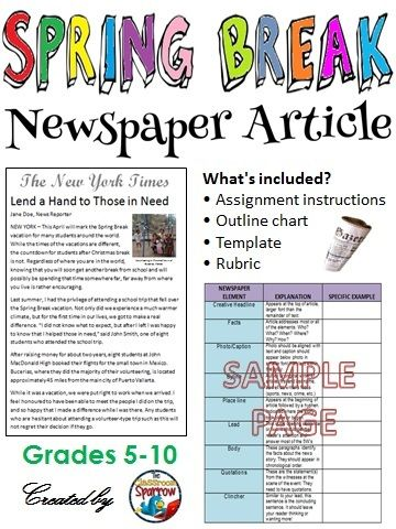 Good articles to write about for school newspaper