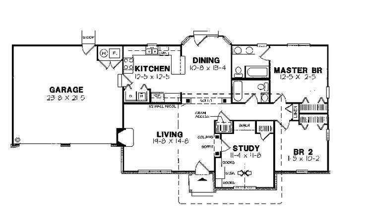U shaped ranch house plans u shaped house plan with for U shaped ranch style home plans