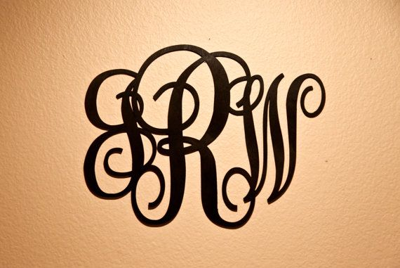 For Sale Is a wood monogram wall sign! With the letters of your choice!  Our high-grade Wall Art is precision cut and hand sanded. with beautiful optional stains or colors to choose (Black Shown). From whether you're looking to add to your home decor, give a gift to a significant other or friend, or just looking for something creative, our wall art products make a great gift!