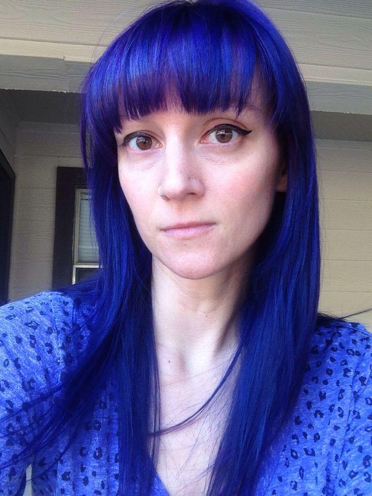 Purple Hair Dye Over Yellow