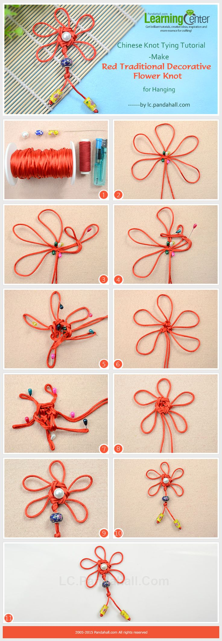 Chinese Knot Tying Tutorial-Make Red Traditional ...