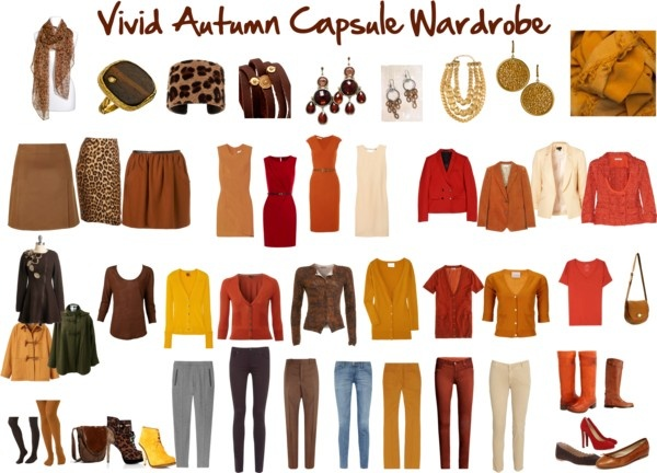 """Vivid Autumn Capsule Wardrobe"" by jeaninebyers ❤ liked on Polyvore"
