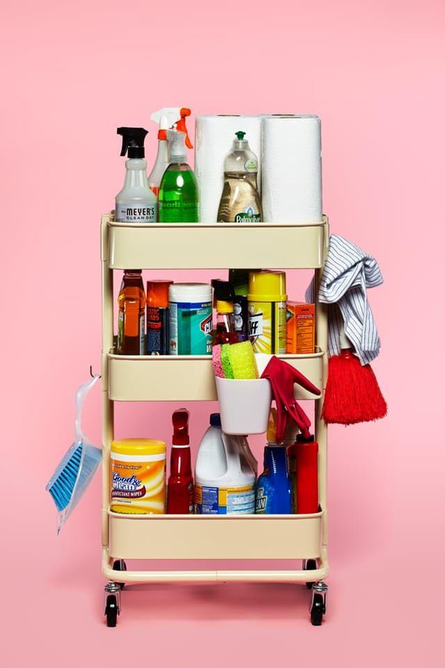 The IKEA RÅSKOG Cart as Cleaning Kit — IKEA RÅSKOG Cart, 10 Ways | The Kitchn