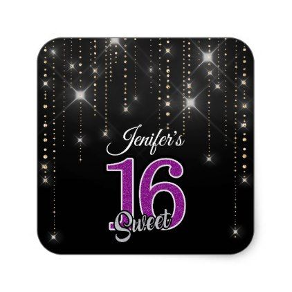 Sparkles quinceanera name Sticker - birthday gifts party celebration custom gift ideas diy