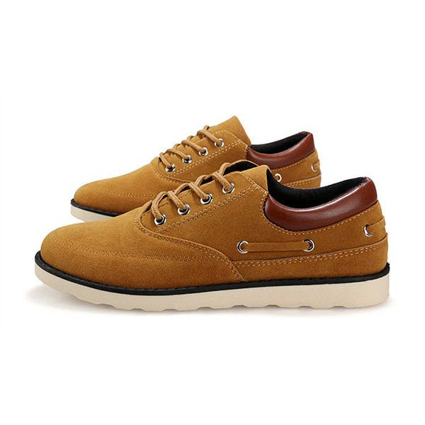 Casual Suede Lace Up British Style Oxford Shoes for Men