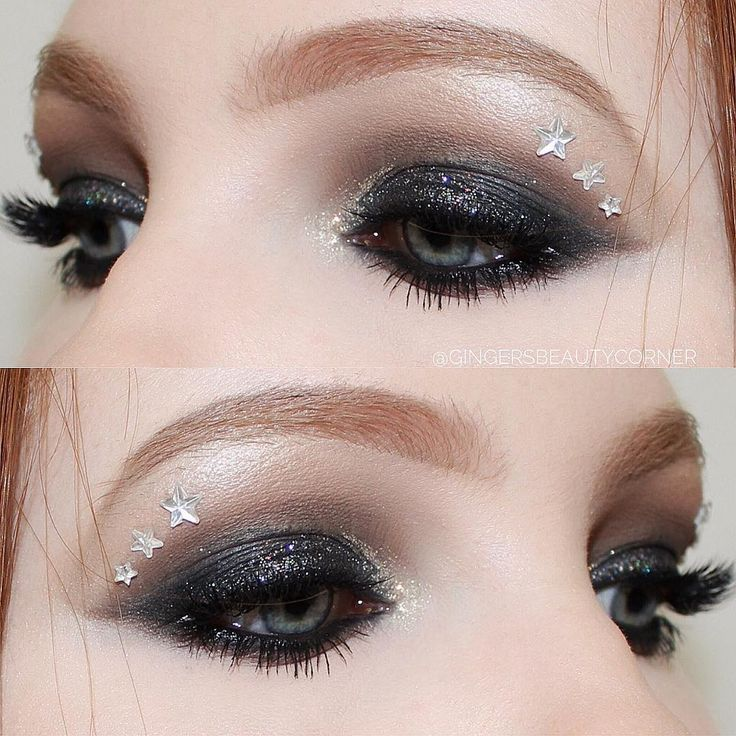 One of my favorite looks to date! Using Lit Cosmetics glitter for this grunge look!