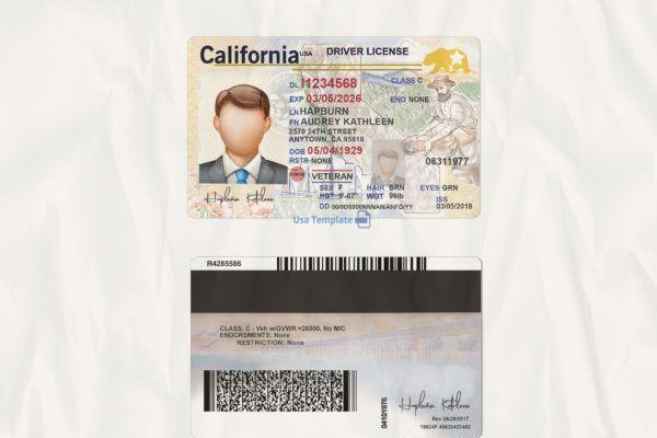 California Driver License Template High Quality Driving License Template Drivers License California Drivers License Ca Drivers License