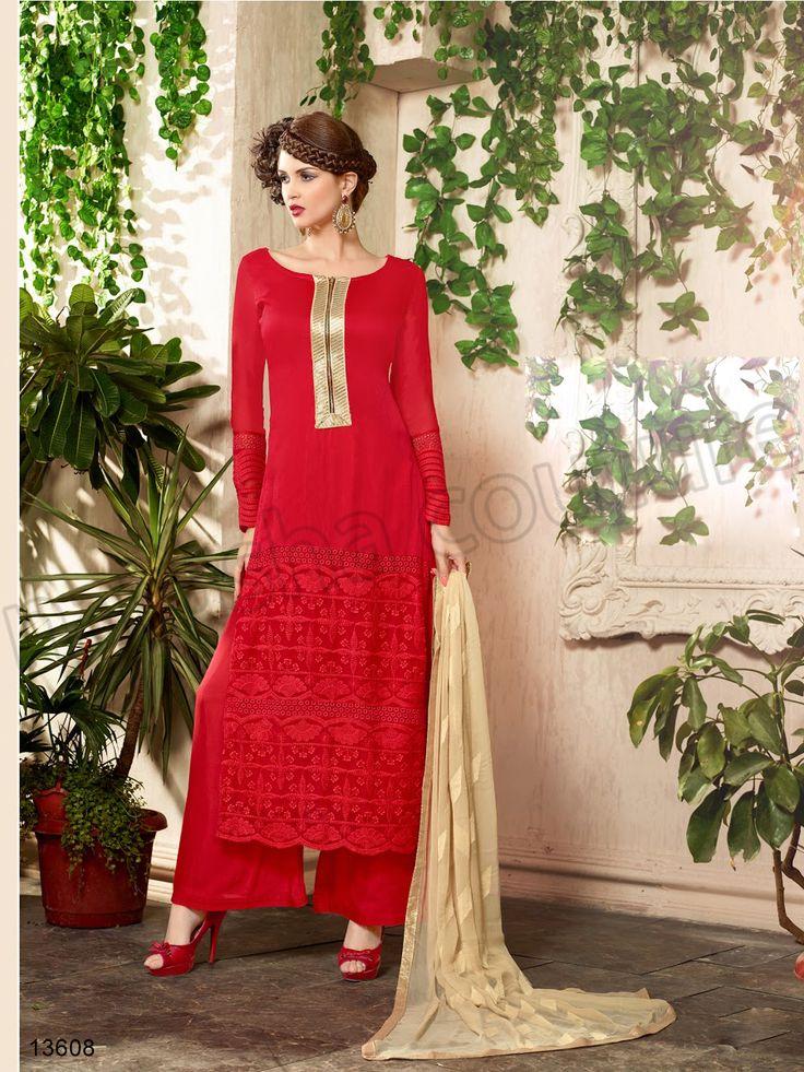 #Designer Stright Suits#Pakistani Suit#Indian Wear#Red #Desi Fashion #Natasha Couture#Indian Ethnic Wear# Salwar Kameez#Indian Suit#Pakastani Suits# Palazoo