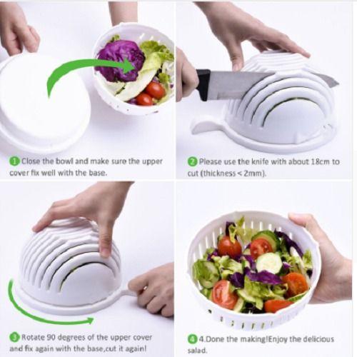 Salad Cutter Bowl  Fruit Vegetable Chopper Washer   Quick Salad Maker Chopper #SaladCutterChina