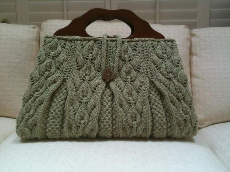 Gorgeous hand knit satchel