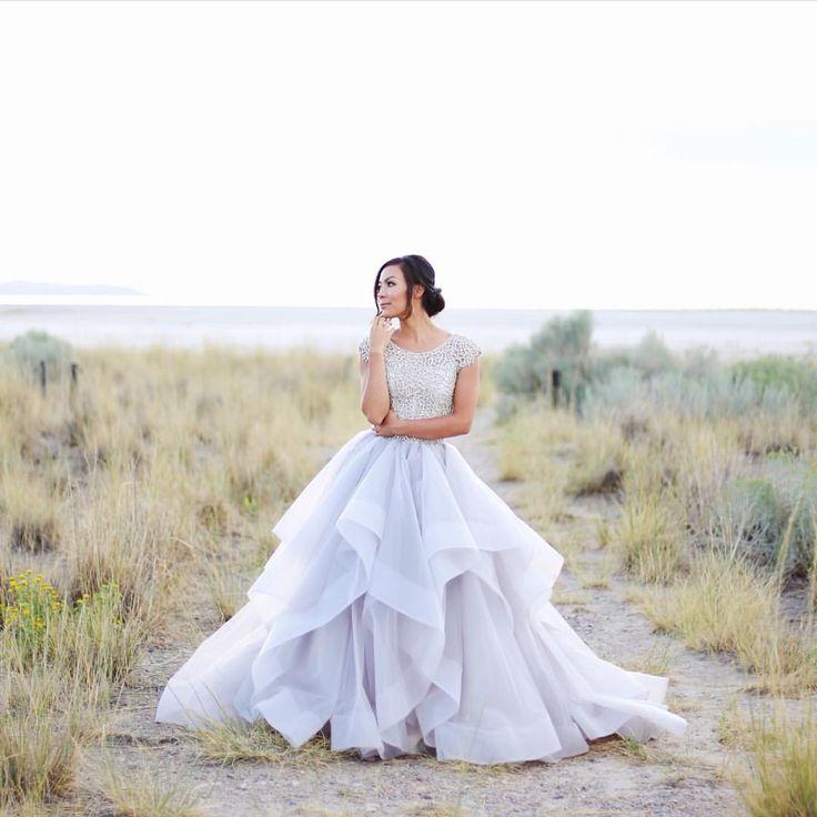 Hayley Paige purple / lavender wedding gown