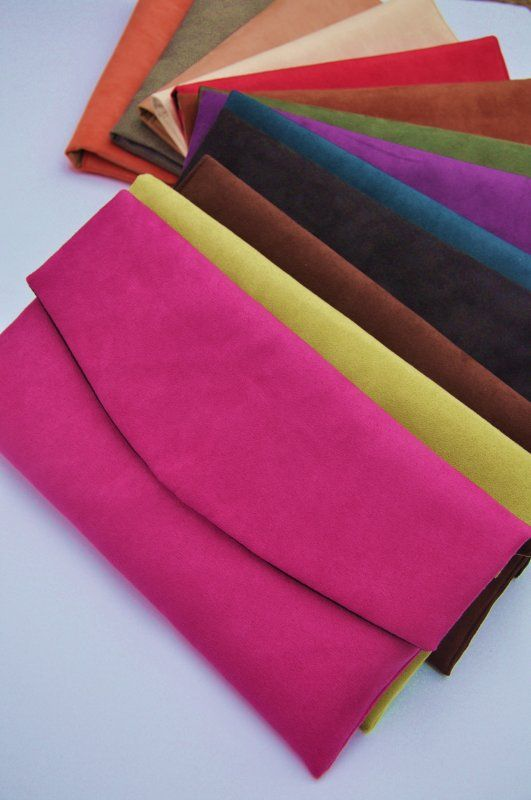 Kopertówka z alcantary - wybór kolorów (sprzedawca: PRACOWNIA 166), do kupienia w DecoBazaar.com