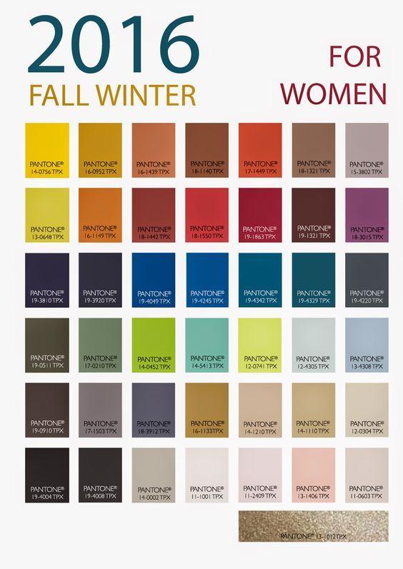 2016秋冬のトレンドカラー