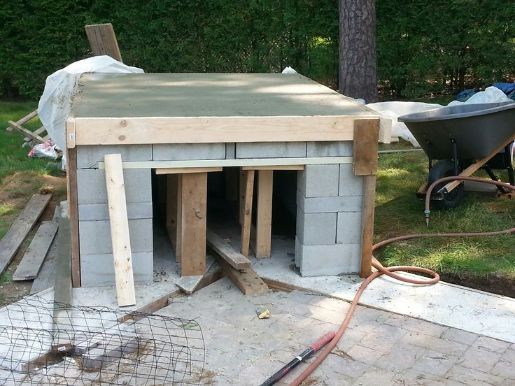 Top poured - the oven goes on top of this.