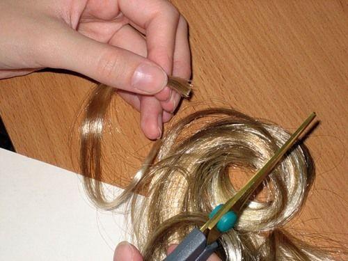 Мастер-класс изготовления парика из волос для куклы / Мастер-классы, творческая мастерская: уроки, схемы, выкройки кукол, своими руками / Бэ...
