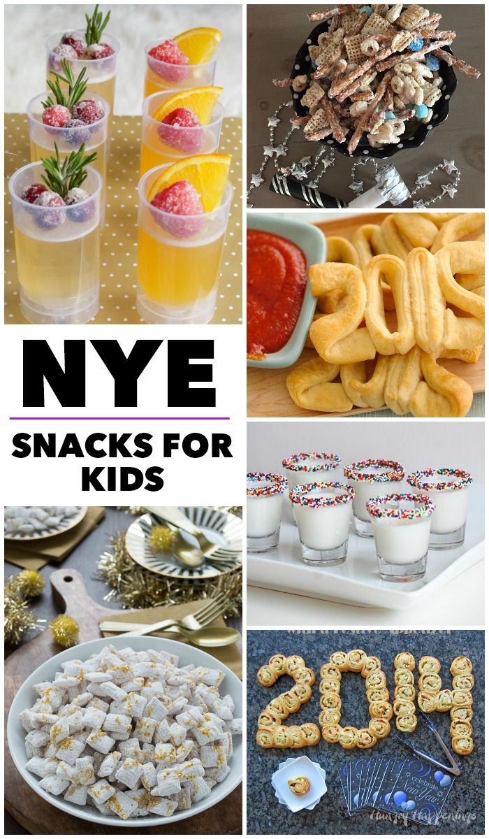 Yummy and festive New Years Eve snacks kids will go crazy for.