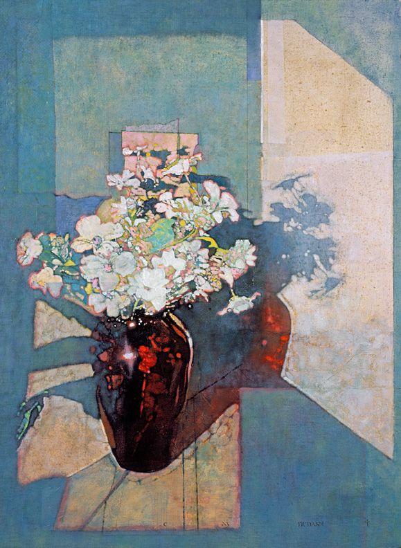 Red Vase Pink Flowers/レッド ベイス ピンク フラワーズ/38×29cm/ジクレ