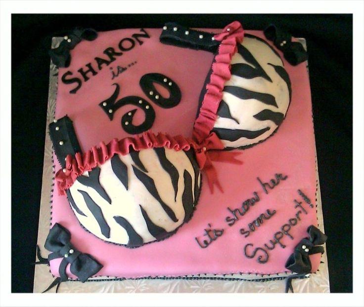 Zebra Bridal Shower Bra Cake on Cake Central