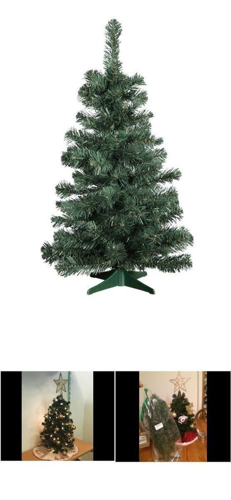small artificial christmas tree balsam pine tabletop tree decoration 2 foot high - 2 Foot Christmas Tree