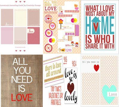 Love Printables for Project Life