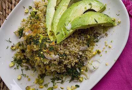 deVegetariër.nl - Vegetarisch recept - Zuidwest-Amerikaanse salade van zoete aardappel en quinoa