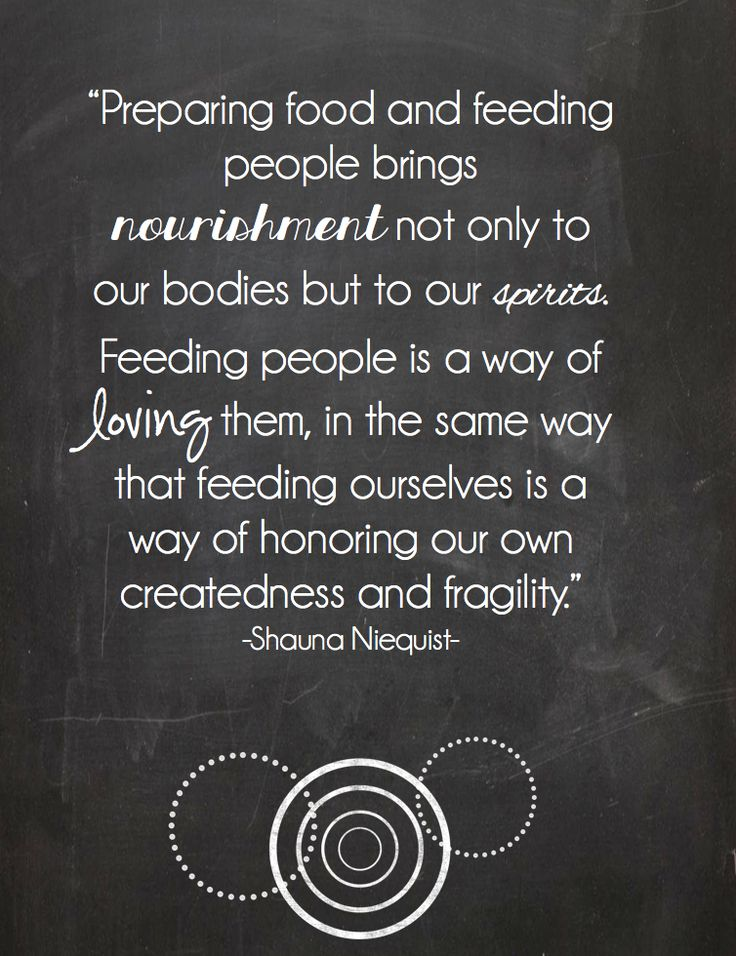 Sometimes I really hate making meals for my family...so hard to please everyone and the kids are so whiny sometimes. Then, I remember this.....