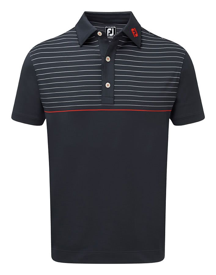 FJ PRODRY STRETCH LISLE FABRIC Engineered contrast chest and yoke pinstripesFEATURESBENEFITSContrast collar and rear yoke FJ logosMoisture wicking tec…