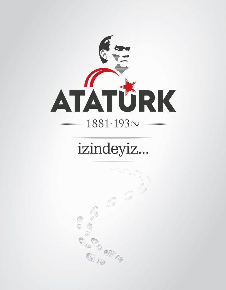 Vektörel Çizim   Mustafa Kemal Atatürk, İzindeyiz