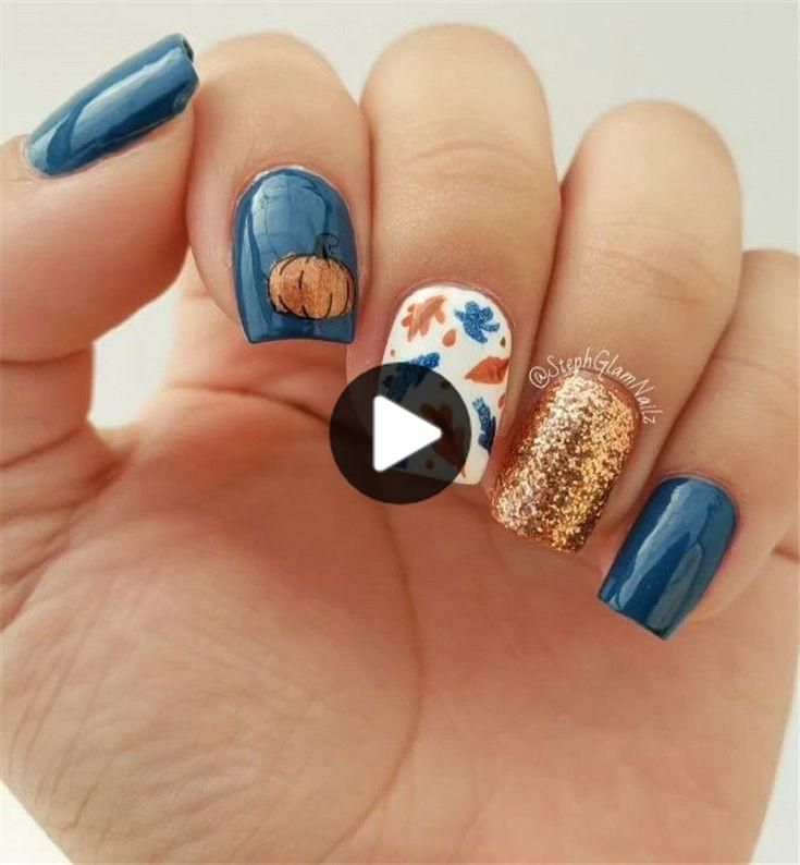 40 Nail Designs Uniques Et Chic A L Automne 2020 Page 7 De 9 Soflyme In 2020 Classy Nail Designs Fall Nail Art Classy Nails