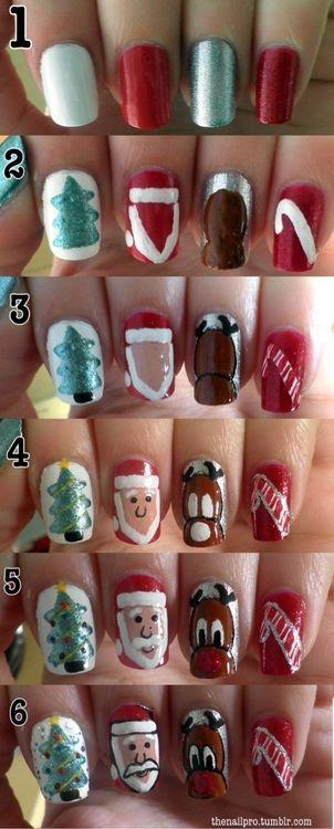 47 best nail designs images on pinterest nail polish nail diy christmas nail design do it yourself fashion tips prinsesfo Choice Image