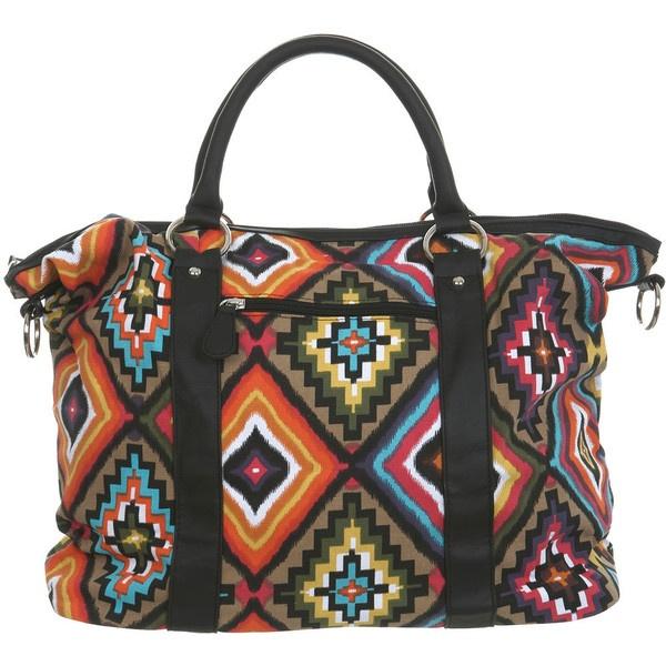 Aztec Overnight Purse ($26) ❤ liked on Polyvore