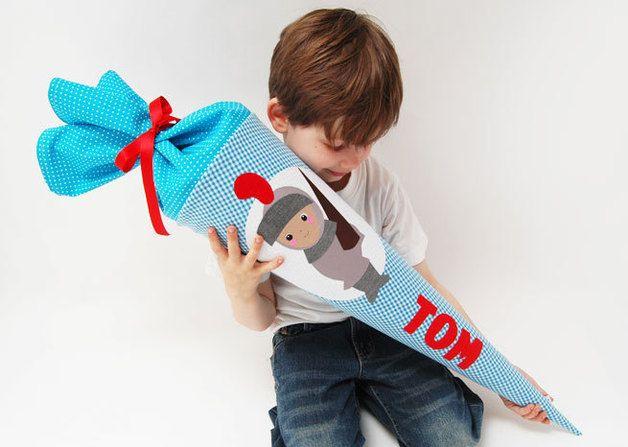 Schultüten - Schultüte kleiner Ritter - ein Designerstück von josefines-kinder bei DaWanda