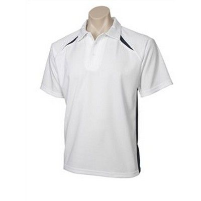 Kids S/S Contrast Panel Polo Min 25 - Cooldry poly fabric weighing 160gsm with self fabric collar. http://www.promosxchange.com.au/kids-contrast-panel-polo/p-9002.html