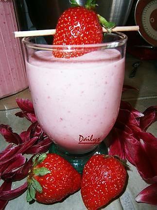 recette Milk Shake Fraise