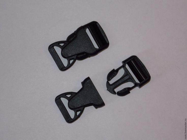 Купить Фастекс 25 мм, чёрный, пластик - черный, пластик, Сумки, рюкзак, фурнитура для сумок