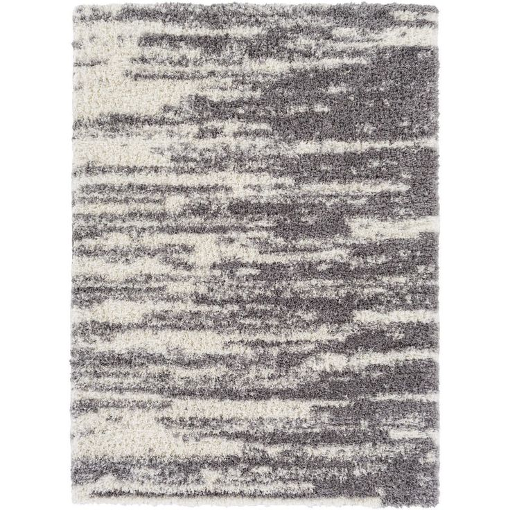 Machine Made Eastern Microfiber/Polyester Rug (7'10 x 10'2) (Charcoal Black), Size 7' x 10'