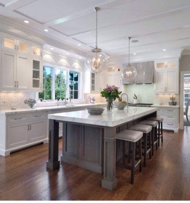 Kitchens With Gray Floors And White Cabinets